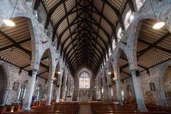 Empty Irish church interior Stock Photos