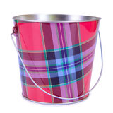 Empty iron bucket Stock Images