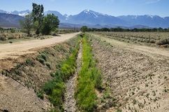 Empty Irrigation Channel Royalty Free Stock Photography