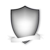 Empty isolated metal shield on white. Vector Royalty Free Stock Images