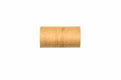 Empty isolated toilet paper roll. Empty isolated paper roll over white background Stock Images
