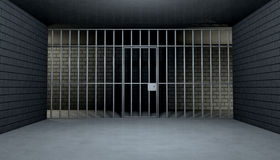 Empty Jail Cell Looking Out royalty free illustration