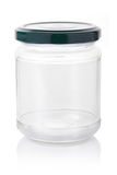 Empty jar. Empty glass jar isolated on white background, clipping path included Royalty Free Stock Image