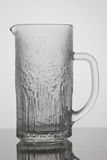Empty jar of beer on white background Stock Photo