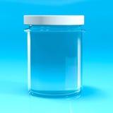 Empty jar glass isolated Royalty Free Stock Photos