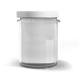 Empty jar glass. Isolated on white background Stock Photos