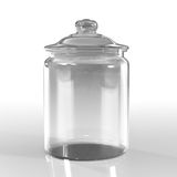 Empty jar glass. Isolated on white background Royalty Free Stock Photography