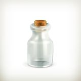 Empty jar, icon Stock Image
