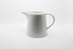 Empty jar of milk Stock Photography