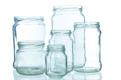 Empty jars Royalty Free Stock Photos