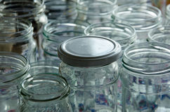 empty jars of homemade preserves Royalty Free Stock Images