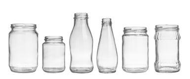 Empty jars Stock Photos