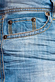 Empty jeans pocket Stock Image