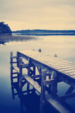 Empty Jetty Instagram Style Stock Images