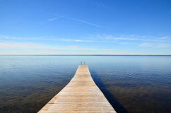Empty jetty Royalty Free Stock Images