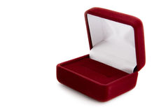Empty jeweller box Royalty Free Stock Image