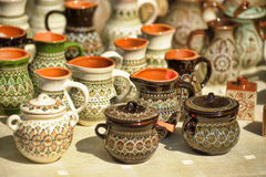 Empty jugs and pots Stock Photography