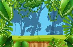 Empty Jungle enviroment scene royalty free illustration