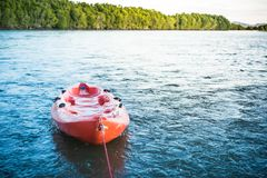 A kayak on the sea. royalty free stock image