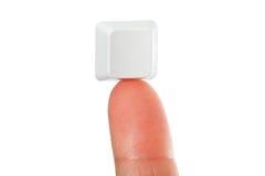 Empty key on Fingertip Royalty Free Stock Photos