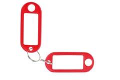Empty key rings Stock Photo
