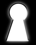 Empty keyhole Stock Image
