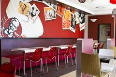 Interior of a KFC restaurant Stock Images