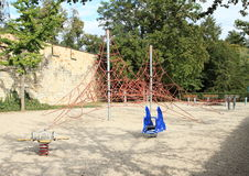 Empty kids playground Royalty Free Stock Images