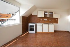Empty kitchen Royalty Free Stock Photo