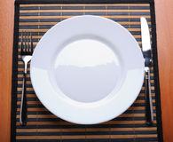 Empty kitchen plate Royalty Free Stock Images