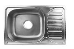 Empty kitchen sink royalty free stock images