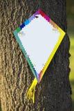 Empty kite on a tree royalty free stock photography