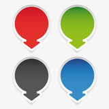 Empty label round with arrow Royalty Free Stock Images