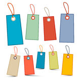 Empty Labels - Tags with Ropes - Strings Royalty Free Stock Image