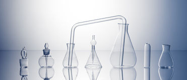 Empty laboratory glassware Royalty Free Stock Photo