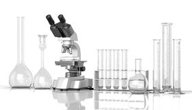 Empty laboratory  glassware whith labora Royalty Free Stock Photography