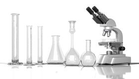 Empty laboratory  glassware whith labora Stock Photo