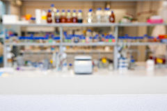 Empty laboratory top or bench Royalty Free Stock Photography