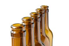 Empty lager beer bottles Royalty Free Stock Photo