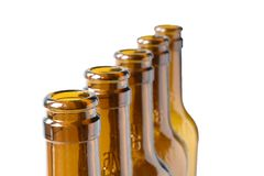 Empty lager beer bottles Royalty Free Stock Photography