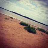 Empty lake stock photo