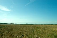 Empty landscape. An empty landscape, typical for the Dutch provence of Zeeland Royalty Free Stock Photography