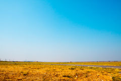 Empty landscape natural desert with blue sky background Royalty Free Stock Photos