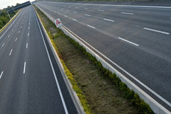 Empty 8-lane-highway Royalty Free Stock Image