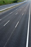 Empty 8-lane highway due to road and bridge works Stock Photography