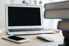 Empty laptop side Royalty Free Stock Photography