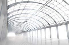 Empty large hall. Vector illustration. Stock Photos