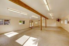 Empty large shop home studio interior. Royalty Free Stock Photo