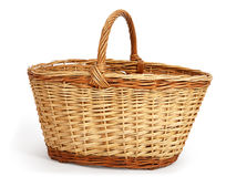 Empty large wicker basket Stock Photos