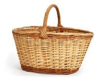 Empty large wicker basket Stock Photos